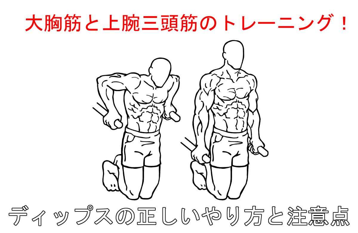 ディップスで効果的に大胸筋を鍛える!正しいやり方と注意すべきポイント