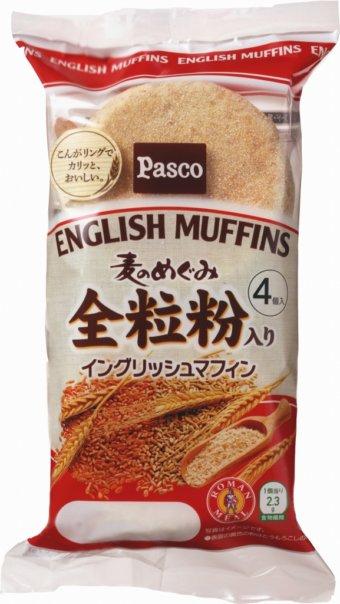 パスコ「麦のめぐみ 全粒粉入りイングリッシュマフィン」